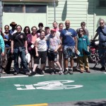 Group shot with bike stencil