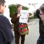 Joel showing photos