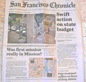 Picture of the front page of the Chronicle Print Edition