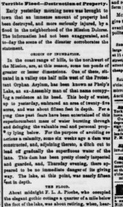 Photo of the original Daily Alta California article from March 15, 1862