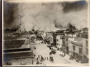smoke and buildings