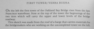 Bay Bridge First Tower/Yerba Buena text