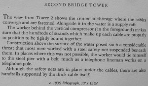 Bay Bridge Second Bridge Tower text