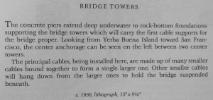 Bay Bridge Bridge Towers text